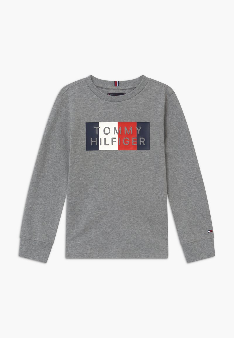 Tommy Hilfiger - GLOBAL STRIPE GRAPHIC - Longsleeve - grey