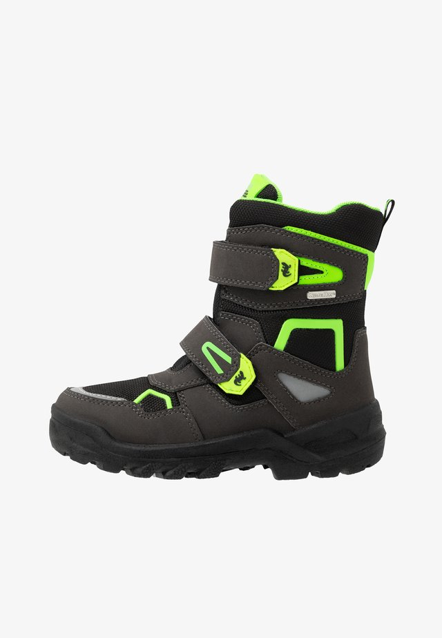 KASPAR SYMPATEX - Winter boots - black/green