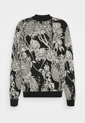 HAZA FLOWER - Sweter - black/white