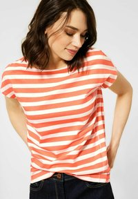 Cecil - Print T-shirt - orange - 0
