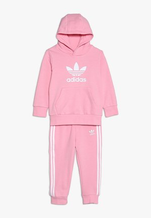 TREFOIL HOODIE SET UNISEX - Trainingsanzug - light pink/white