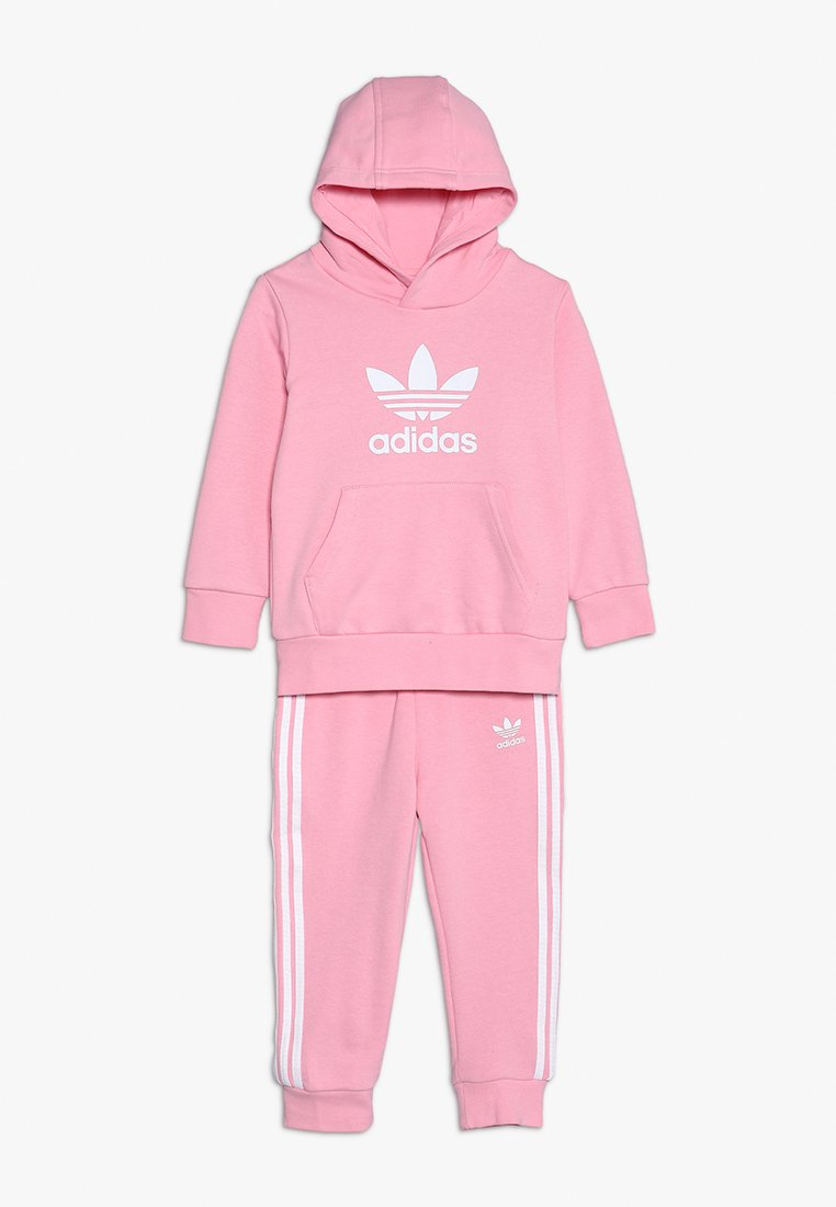 adidas Originals - TREFOIL HOODIE SET - Tracksuit - light pink/white