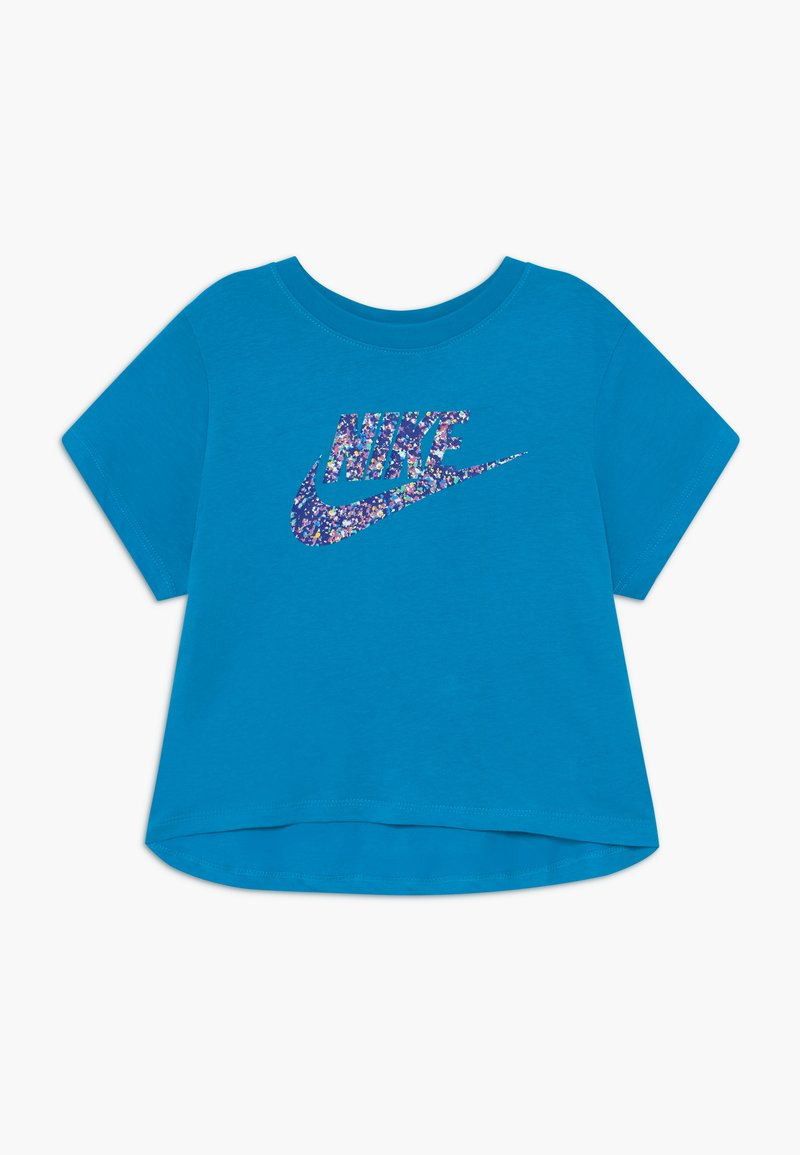 Nike Sportswear - CROP FUTURA - Camiseta estampada - laser blue