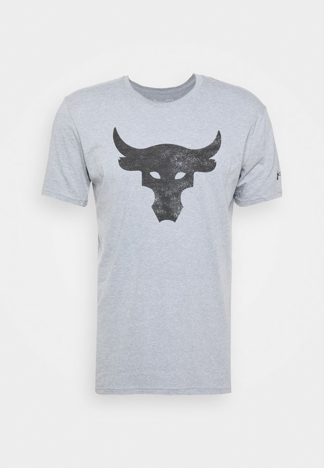 ROCK BRAHMA BULL - Triko s potiskem - steel light heather