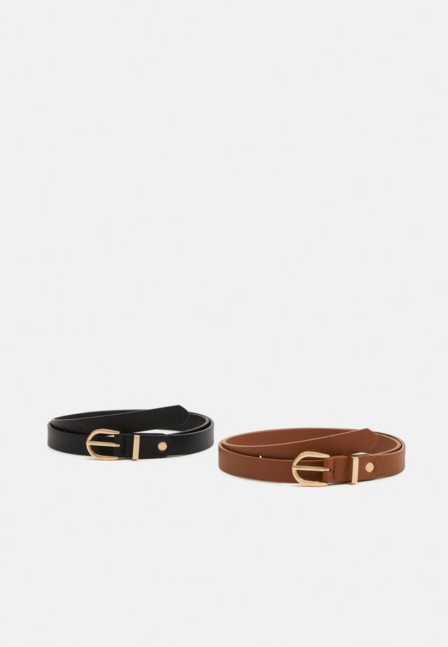 2 PACK - Belt - cognac