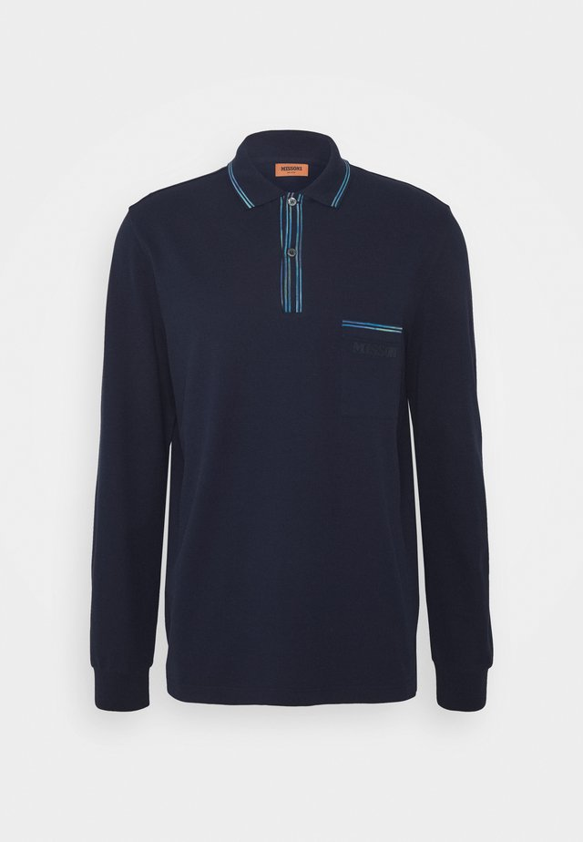 LONG SLEEVE - Polo shirt - blue navy
