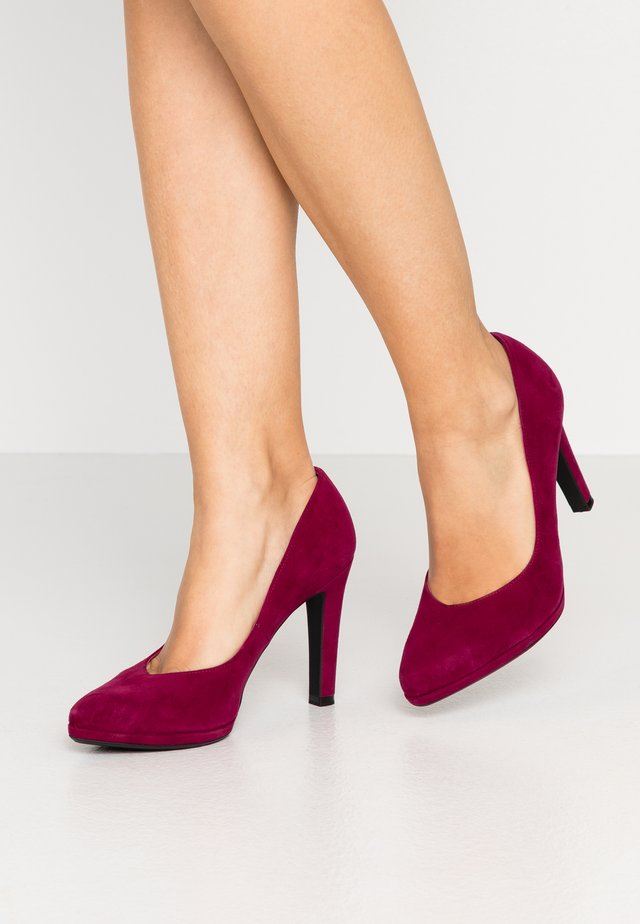 HERDI - Zapatos altos - plum