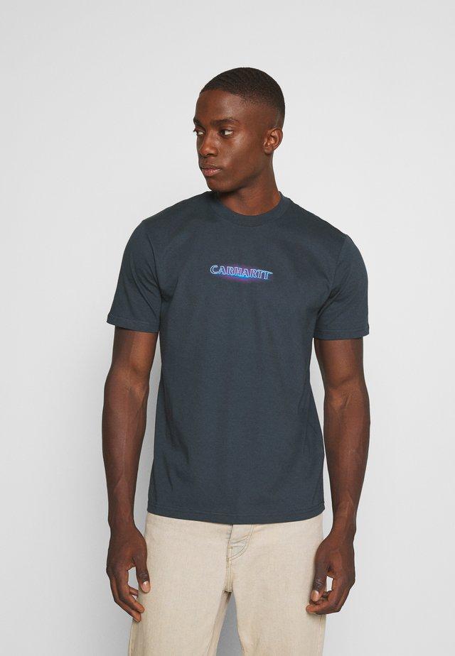 NEON SCRIPT  - T-shirt print - admiral