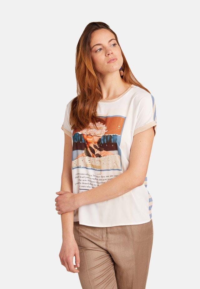 T-shirt con stampa - beige
