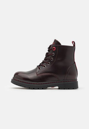 CLOVER COLD LINING UNISEX - Lace-up ankle boots - burgundy red