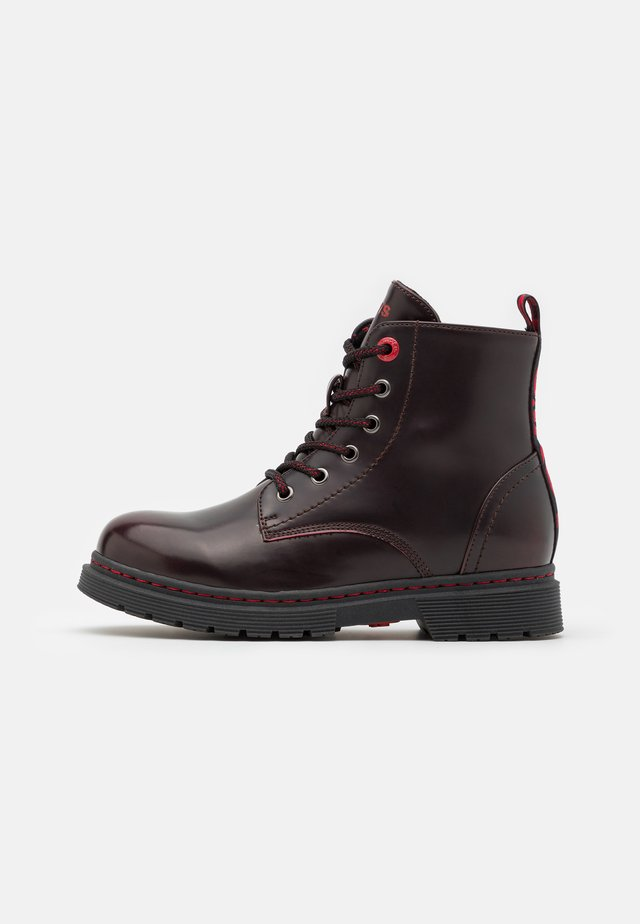 CLOVER COLD LINING UNISEX - Bottines à lacets - burgundy red