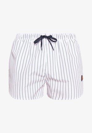 RUGOLO - Swimming shorts - white/navy