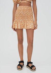 PULL&BEAR - A-line skirt - orange - 0