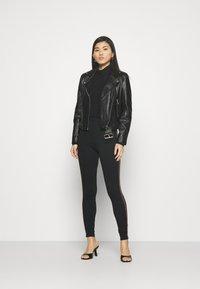 Marks & Spencer London - SIDE STRIPE - Leggings - Trousers - black - 1