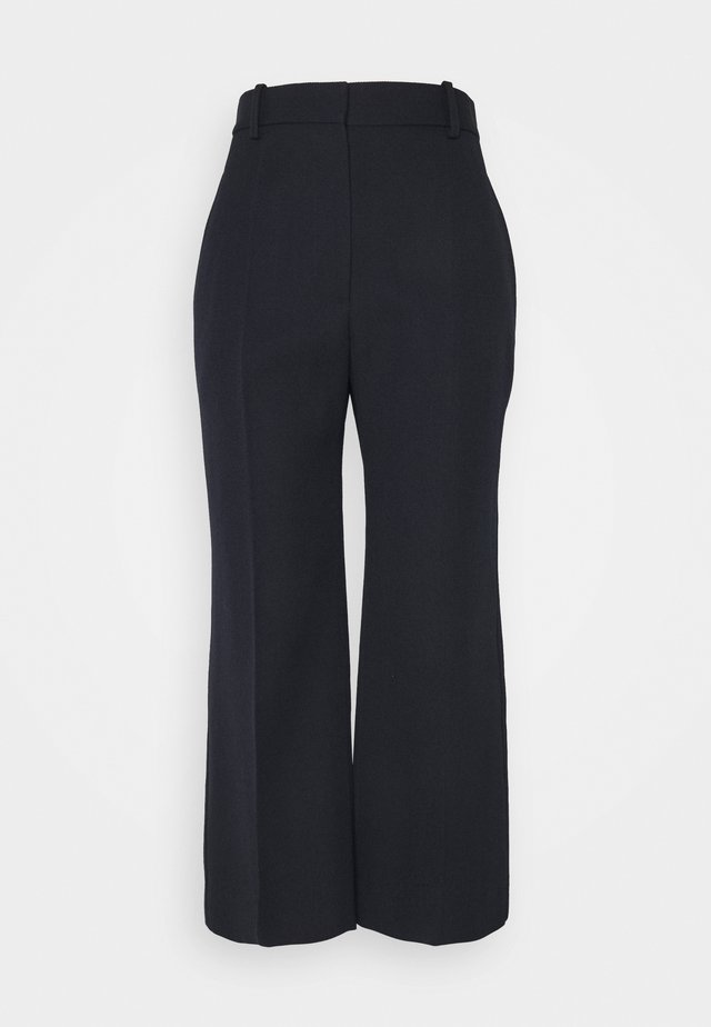 CROPPED FLARE - Trousers - dark navy
