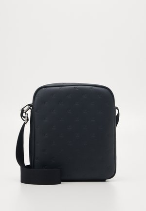 MONOGRAM EMBOSS FLATPACK - Across body bag - black