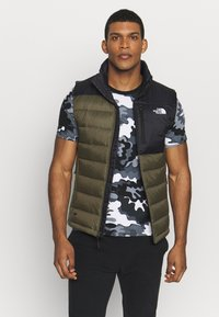The North Face - ACONCAGUA VEST - Waistcoat - black / new taupe green - 0