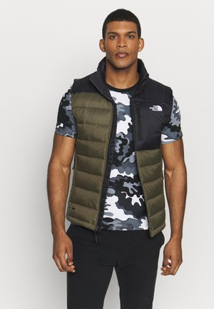 ACONCAGUA VEST - Bodywarmer - black / new taupe green