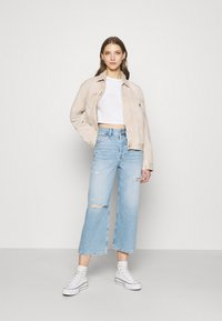 Even&Odd - Wide leg cropped jeans - Straight leg jeans - light blue denim - 1