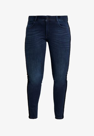 TAPE DETAIL - Jean slim - dark stone wash denim blue