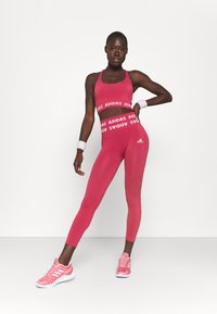 adidas Performance - AEROKNIT 7/8 T TRAINING WORKOUT DESIGNED4TRAINING PRIMEGREEN LEGGINGS FITTED - Tights - berry - 1
