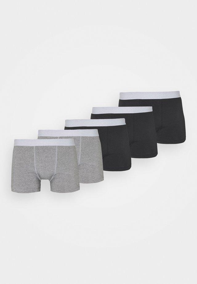5PACK - Panties - black/mottled grey