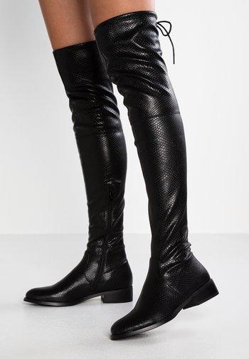 ELLE - Overknee laarzen - black