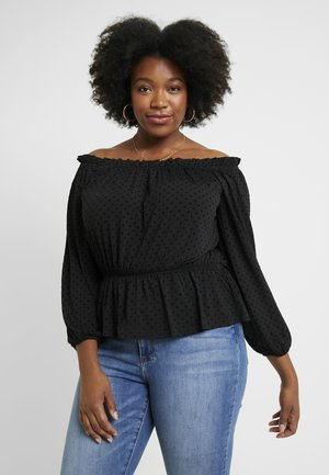 EXCLUSIVE BARDOT YOUNG LOVE - Long sleeved top - black