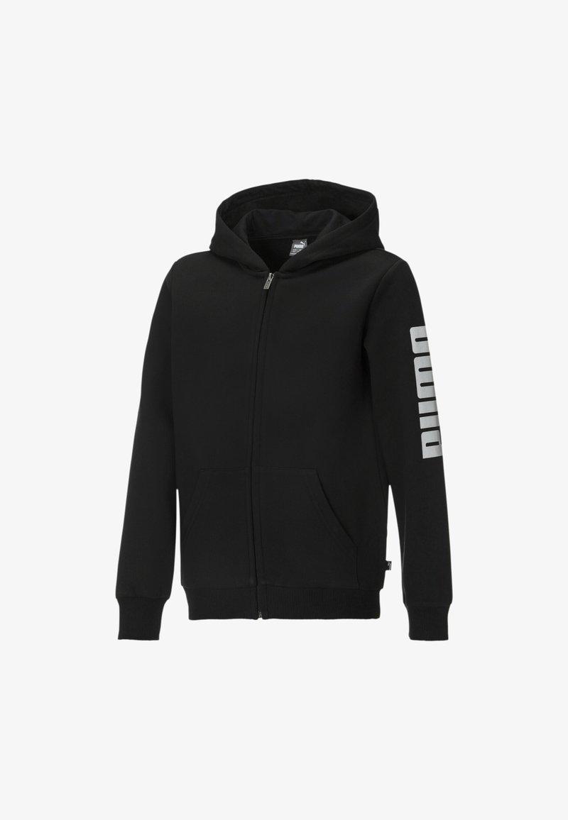 Puma - Zip-up hoodie -  black- white