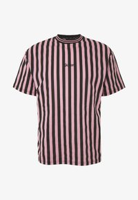 Kickers Classics - VERTICAL STRIPE TEE - T-shirt con stampa - pink/black - 0