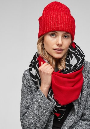 SOFTES MIT MUSTER - Foulard - red placed print