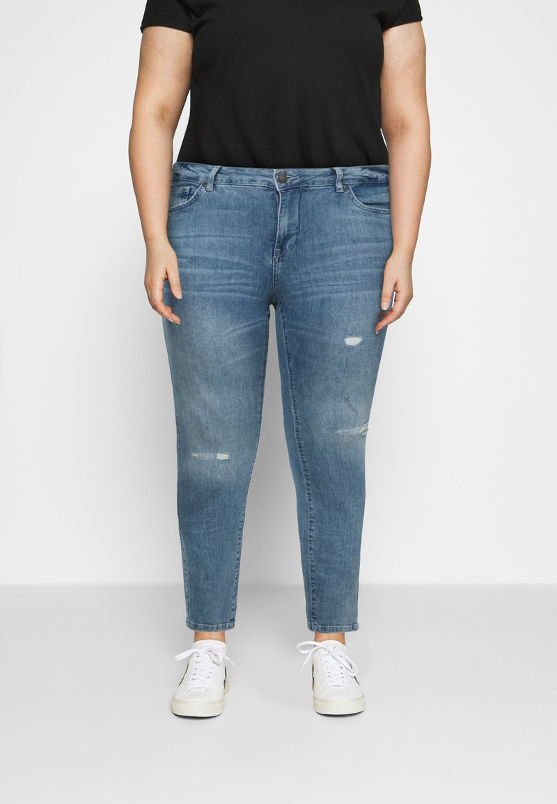 Zizzi - SANNA SHAPE - Jeans Skinny Fit - light blue denim