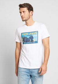 Pepe Jeans - MILES - T-Shirt print - optic white - 0