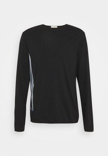 LOOSE FIT LONG SLEEVE - Long sleeved top - black