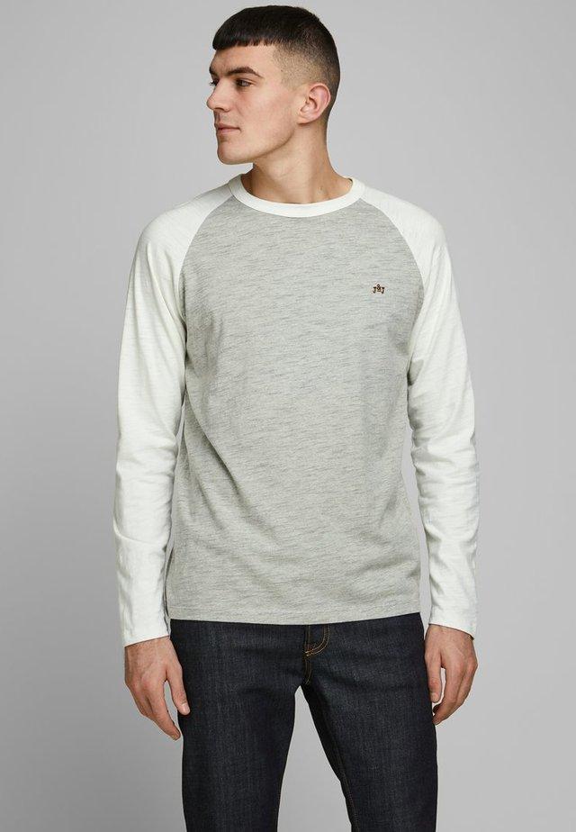 LONGSLEEVE COLOURBLOCKING - Topper langermet - light grey melange
