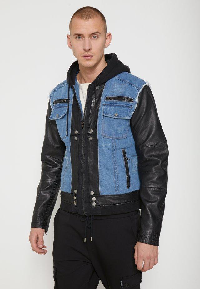 BEMAX D - Denim jacket - black/indigo