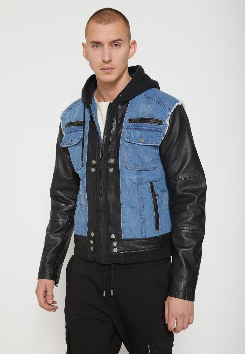 Be Edgy - BEMAX D - Denim jacket - black/indigo