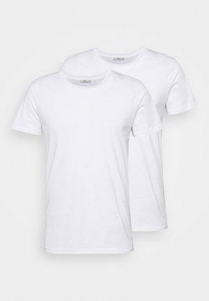 2 PACK  - Jednoduché triko - white