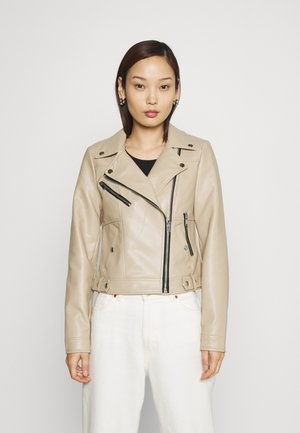 VMHOPE COATED JACKET - Faux leather jacket - beige