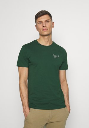 Print T-shirt - dark green