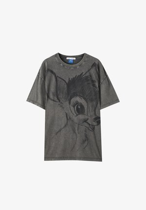 T-Shirt print - mottled dark grey