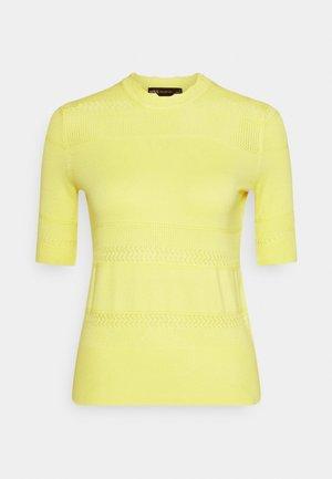 PRETTY CREW - T-shirt print - yellow
