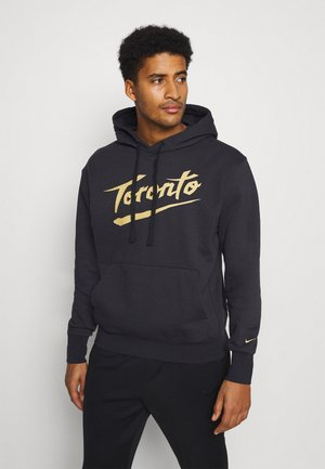 NBA TORONTO RAPTORS CITY EDITION ESSENTIAL HOODIE - Klubtrøjer - black/club gold