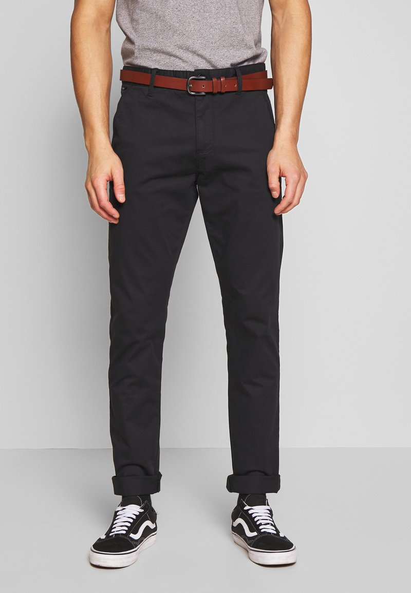 INDICODE JEANS - GOVER - Chino kalhoty - black