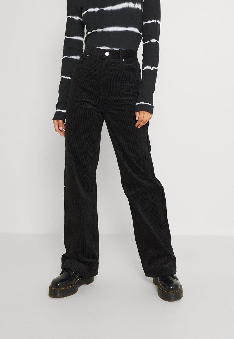 Monki - Trousers - black dark