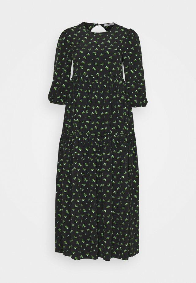 TIERED MIDAXI DRESS - Robe d'été - black