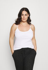 CAPSULE by Simply Be - PACK 3 CAMIS - Top - black/grey/white - 2