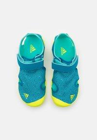 adidas Performance - CAPTAIN TOEY UNISEX - Vaellussandaalit - acid mint/solar yellow/active teal - 3