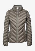 SHORT PACKABLE PUFFER - Down jacket - taupe