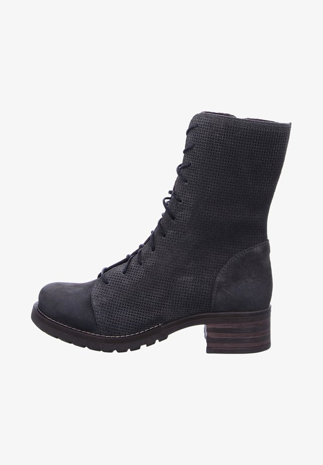 TINA ABEY MILITARY - Lace-up ankle boots - antracita